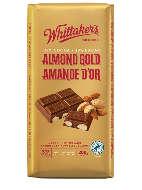Whittaker's Almond Gold Milk Chocolate 200g
