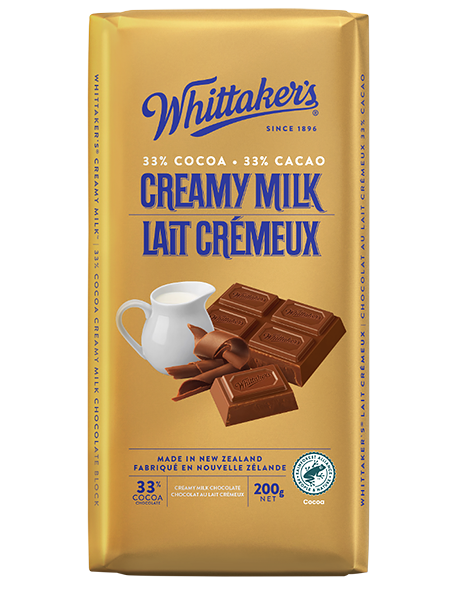 Whittaker's Creamy Milk Chocolate 200g