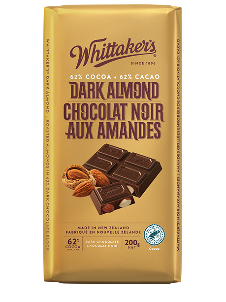 Whittaker's Dark Almond Dark Chocolate 200g