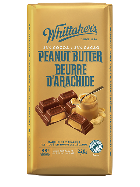 Whittaker's Peanut Butter Milk Chocolate 200g