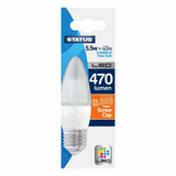 5.5 Watt = 40 Watt 470 Lumens ES/E27 Candle Shape LED Bulbs