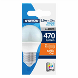 5.5 Watt = 40 Watt 470 Lumens ES/E27 Round Shape LED Bulbs