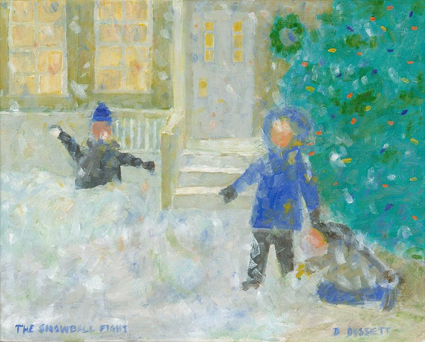 The Snowball Fight - Print by David Dossett - Martello Alley