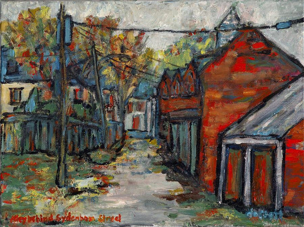 Alley Behind Sydenham Street - Print by David Dossett - Martello Alley