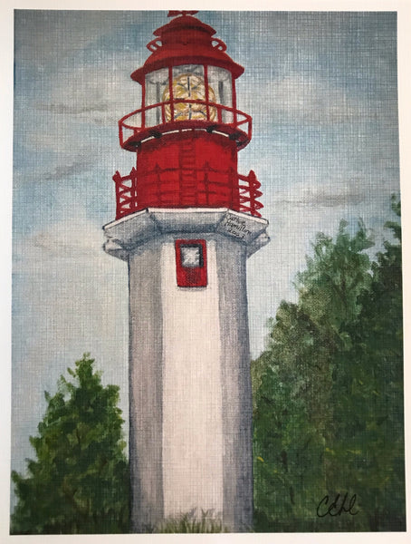 Bruce Lighthouse - 8 x 10 Print by Cathie Hamilton - Martello Alley
