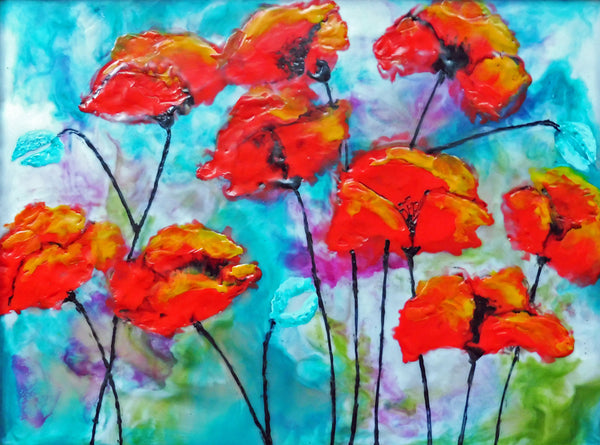Poppy Flair - Print by Cathie Hamilton - Martello Alley