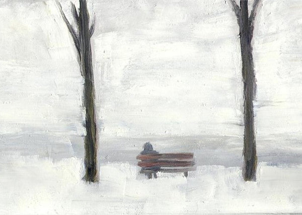 Park bench Lake Ontario - Print by David Dossett - Martello Alley