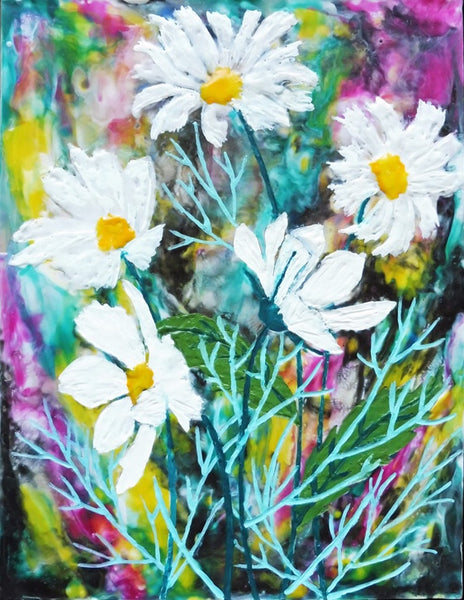 Cosmos Blooms - Print 11 x 14 by Cathie Hamilton - Martello Alley