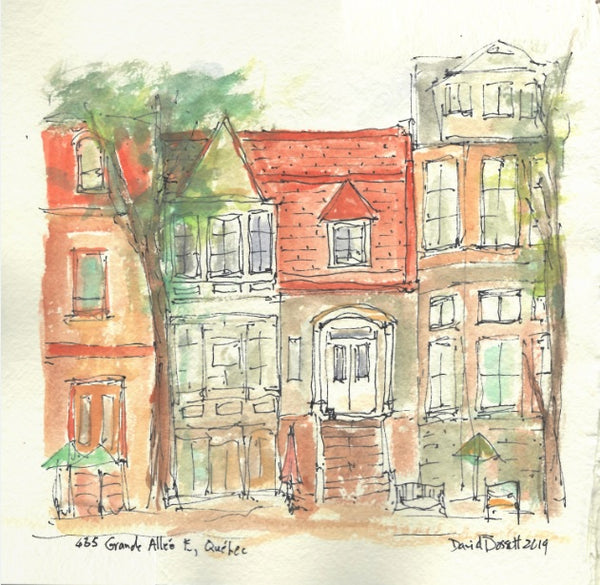 435 Grande Allee E Quebec - Watercolour by David Dossett - Martello Alley