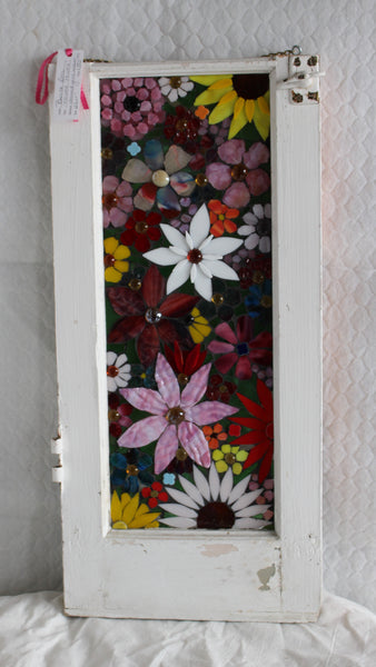 Flower Power      12 x 25 - Stained Glass Mosaic by Bonita Bell - Martello Alley