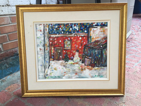 Christmas in the Alley - Painting by David Dossett - Martello Alley