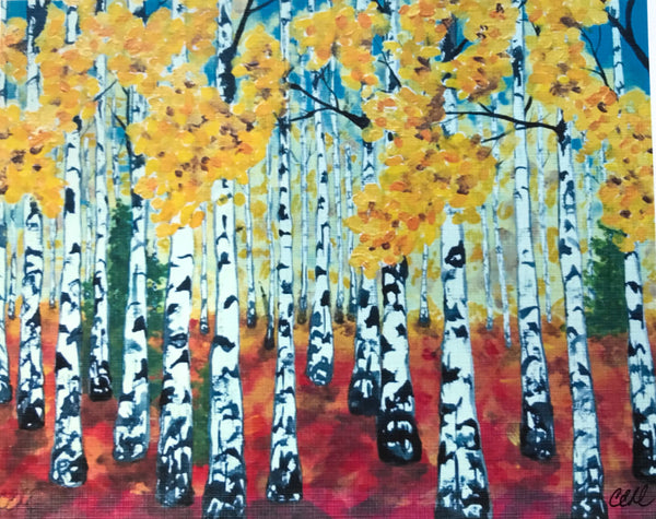 Birches 2 - 8 x 10 print by Cathie Hamilton - Martello Alley