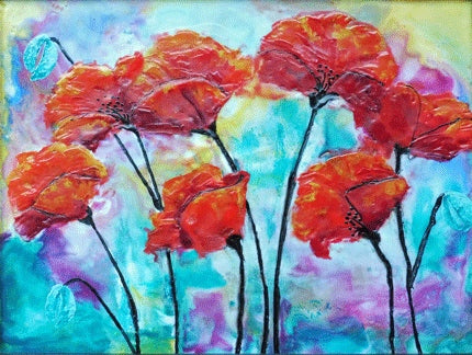 Poppies - 11 x 14 print by Cathie Hamilton - Martello Alley