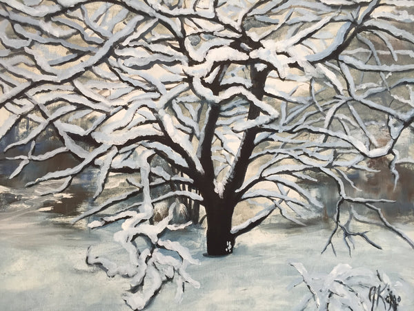 Heavy Snow - Print by Julie Kojro -  by Julie Kojro - Martello Alley