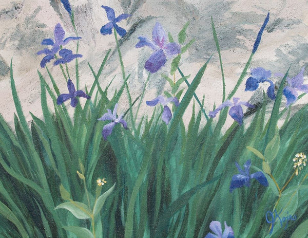 Wild Irises - Original Julie Kojro