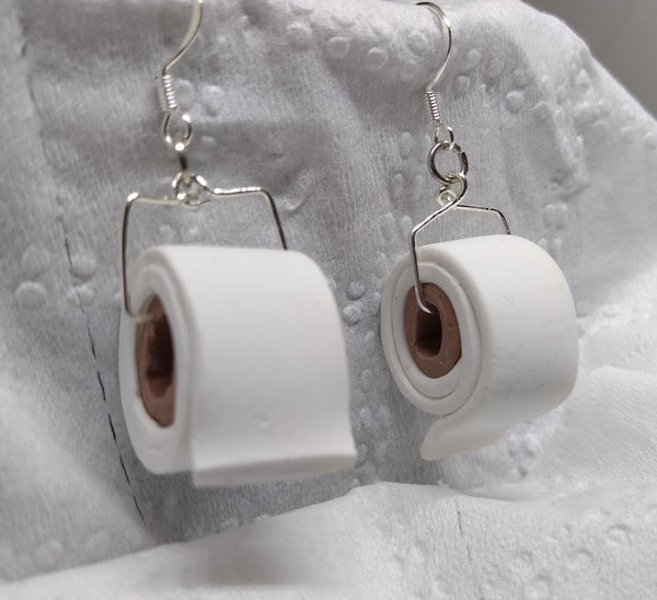 Toilet Paper Roll Earrings - Jewelery by Erica Young - Martello Alley