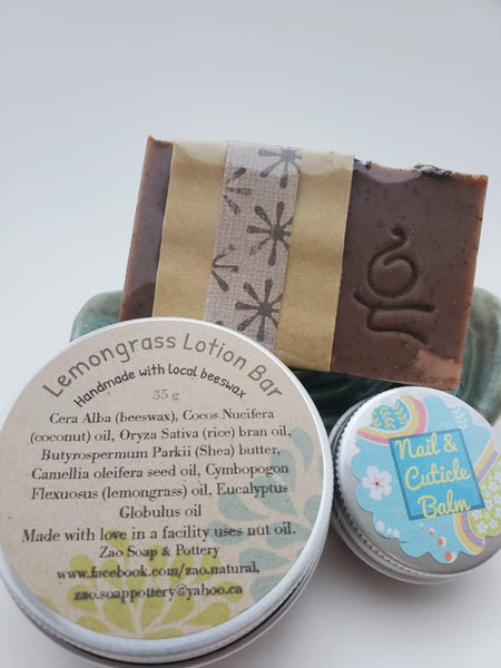 Hand Pampering Set - soap by Zao Soap and Pottery - Martello Alley