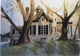 Castle House- wooden plaque print- Julie Kojro - Print by Julie Kojro - Martello Alley