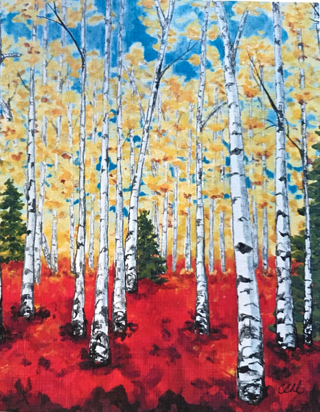 Birches - 8 x 10 print by Cathie Hamilton - Martello Alley