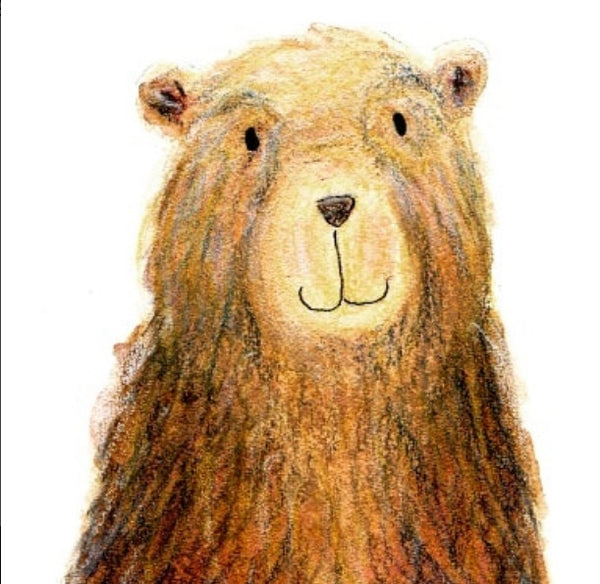 Card- Mr bear - Greeting Card by Heidi Larkman - Martello Alley