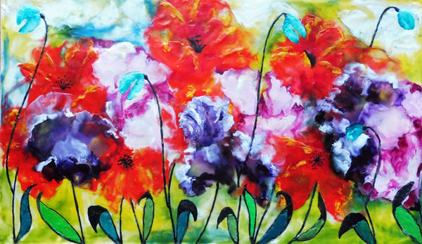 Colourful  Blooms - 11 x 14 print by Cathie Hamilton - Martello Alley