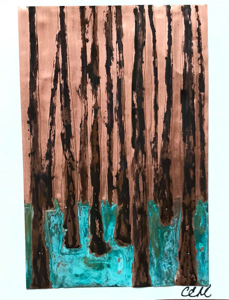 Birch Copper Card - Copper Card by Cathie Hamilton - Martello Alley