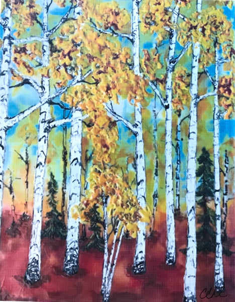 In The Birches - 8 x 10 print by Cathie Hamilton - Martello Alley