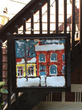 Houses in Sydenham Ward - on window screen - Painting by David Dossett - Martello Alley