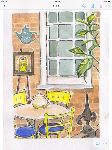 Tea Room Patio 2 large print