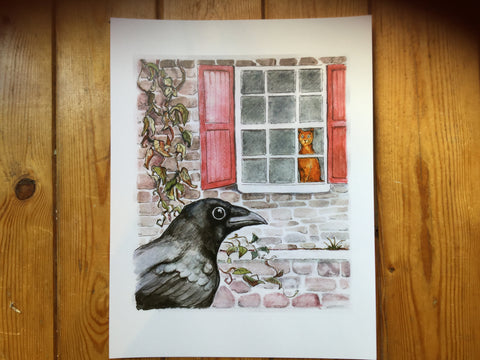 """Chirp chirp chirp"" large card - Print by Brenda Bielicki - Martello Alley"