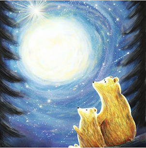 Bears in Moonlight - Painting by Heidi Larkman - Martello Alley