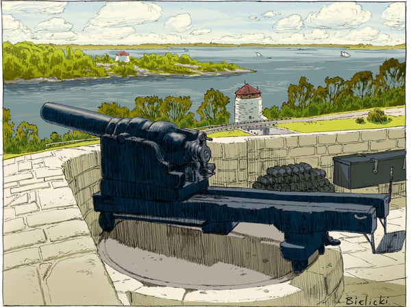 Fort Henry Artillery large print - Print by Peter Bielicki - Martello Alley