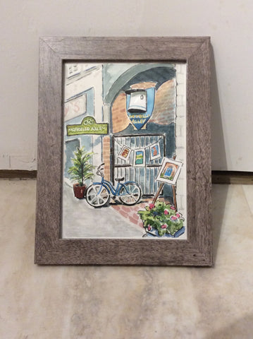 Alley Entrance 1. Original - Watercolour original by Brenda Bielicki - Martello Alley
