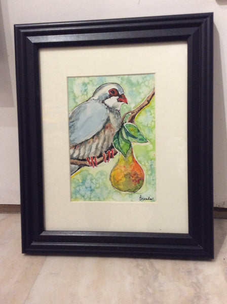 Partridge - Watercolour original by Brenda Bielicki - Martello Alley