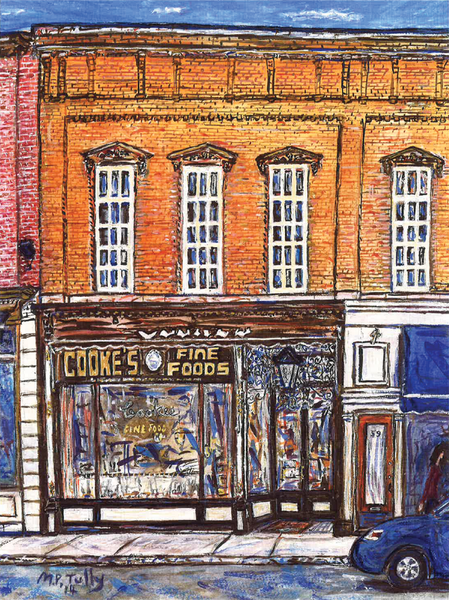 Cook's Fine Foods Tully Print - Print by Tully - Martello Alley