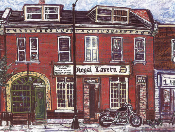 Royal Tavern Tully Print - Print by Tully - Martello Alley