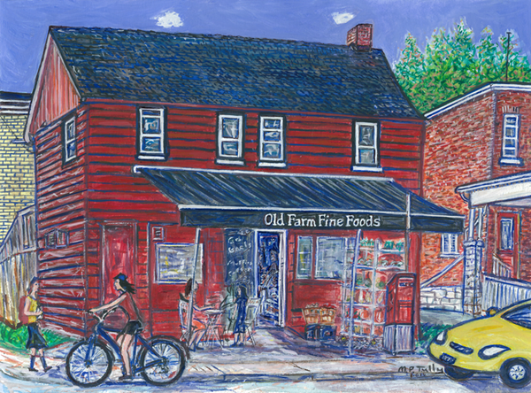 Old Farm Fine Foods Tully Print - Print by Tully - Martello Alley