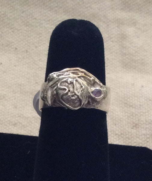 Fine Silver Ball ring - Jewellery by Leslie Welfare - Martello Alley