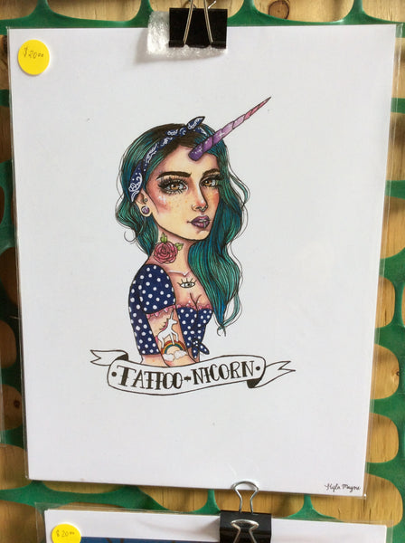 Tattoonicorn Print