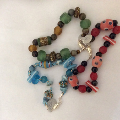LWB 1 African Recycled Bottle Beads - Jewellery by Leslie Welfare - Martello Alley