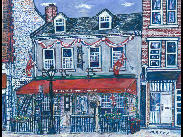 Sir John's Public House Tully Print - Print by Tully - Martello Alley