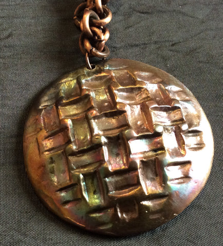 Copper Heat Patina Necklace - Jewellery by Leslie Welfare - Martello Alley