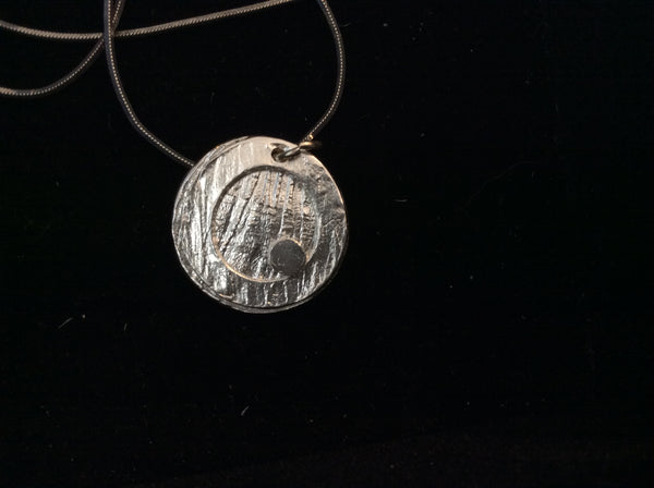 Fine Silver Circle - Jewelery by Leslie Welfare - Martello Alley