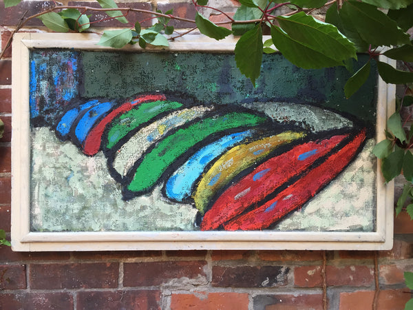 The Canoe Rental at Bon Echo - Jardin'Art (Art in a garden) by David Dossett - Martello Alley