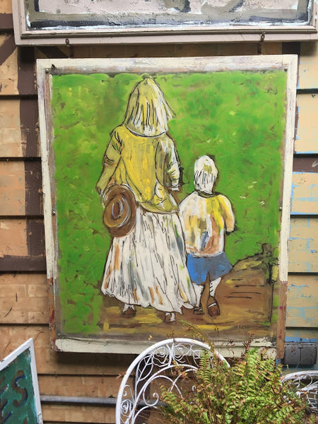 Mother and Child Walk - Outdoor art by David Dossett - Martello Alley