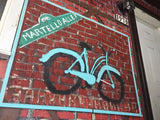Blue Bicycle in Martello Alley - Outdoor art - screen by David Dossett - Martello Alley
