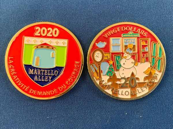 Martello Alley collectable coin (2020)
