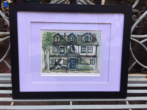 Portsmouth Tavern - original watercolour framed - Watercolour original by David Dossett - Martello Alley