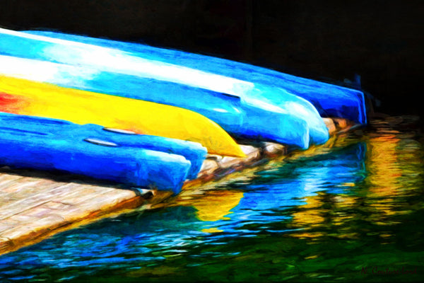 Kayaks waiting - print large size - 18 x 12 prints by Nicole Couture-Lord - Martello Alley