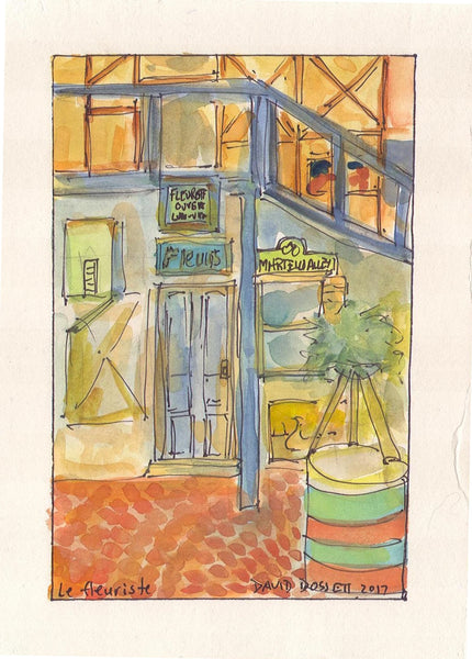 Le Fleuriste - Print by David Dossett - Martello Alley